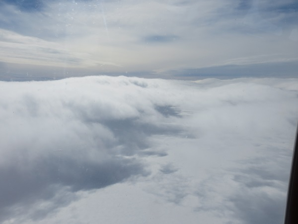 Low clouds, as seen from the helo. The surface became completely obstructed from view the closer we got to Ferrell. The clouds did have a cool, hill-like appearance though.