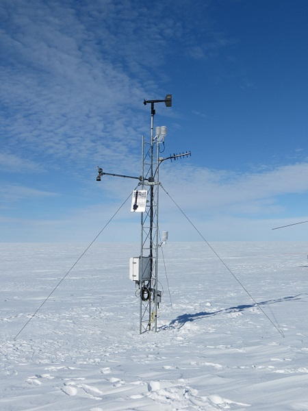 Ferrell AWS upon completion. Notice the angled black antenna on the right of the station.