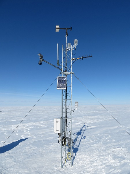 Ferrell AWS, with freewave and Argos transmissions installed (the white vertical pipe is the Argos antenna)