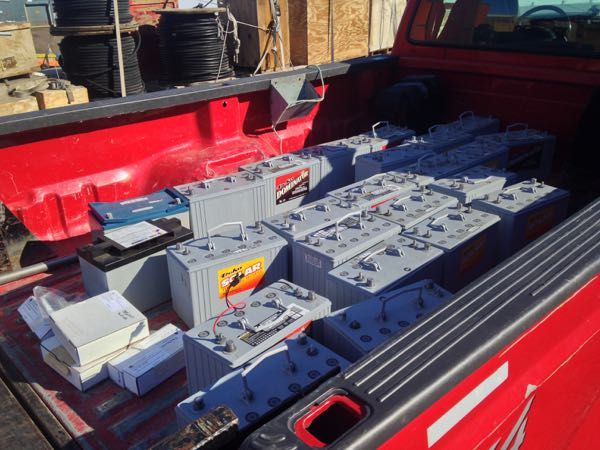 Truck full of batteries