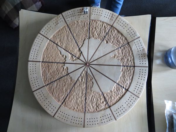 Antarctic Cribbage board