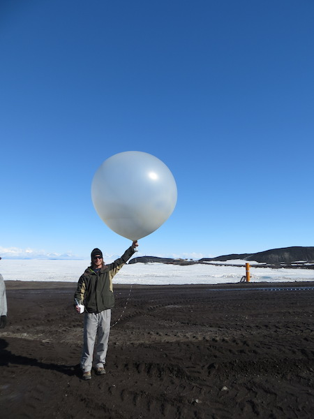 Me and the weather balloon.