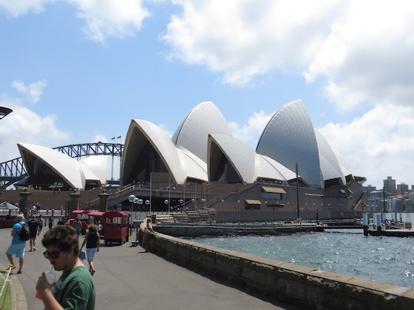 I had an 11-hour layover in Sydney on my way down to the ice, so I spent some time in downtown Sydney and saw the Opera House.