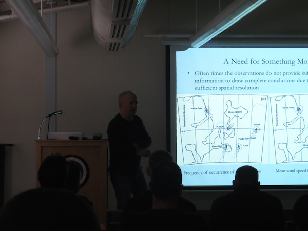 Mark talking at the Crary Wednesday Science Lecture.