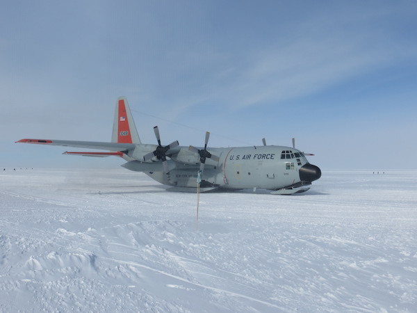 The LC-130 at WAIS, after we departed the plane.