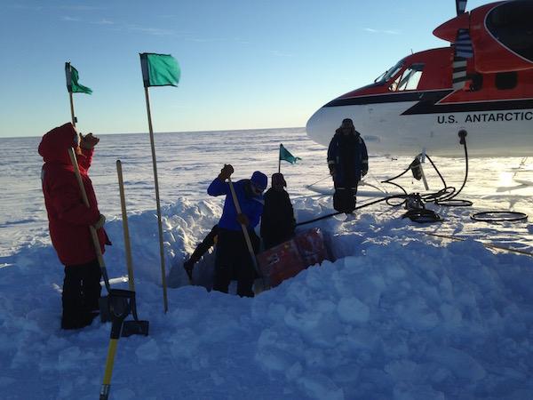 Fuel Cache in West Antarctica