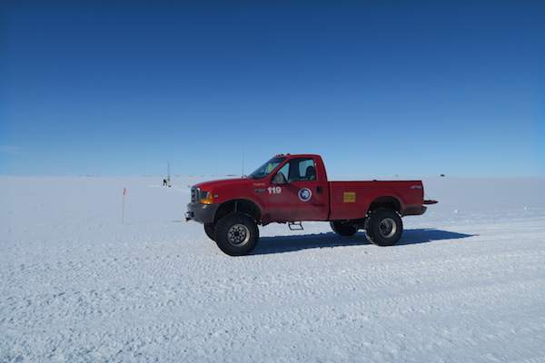 Willie Field AWS in the background with Ford F-350 Truck 119