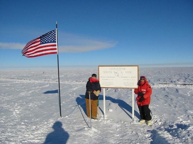 south pole flag